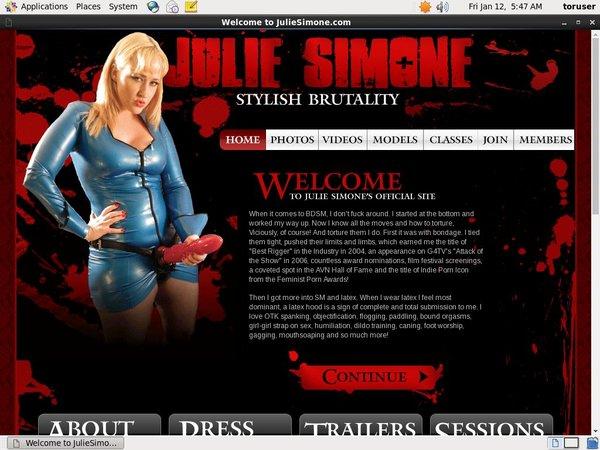 Julie Simone Account Generator